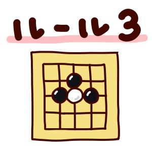 囲碁ルール3「相手の石を囲むと取れる」