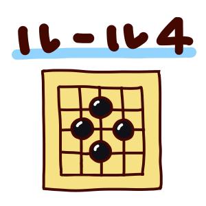 囲碁ルール4「石を打てない場所(着手禁止点)がある」